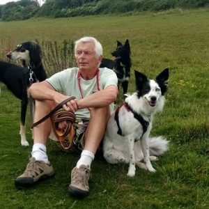 Ian Kerr with dogs